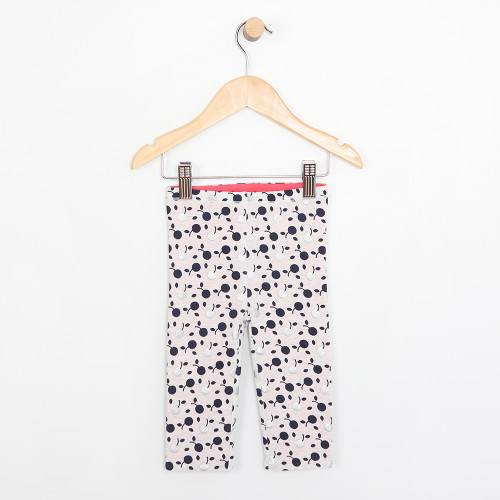 Reversible Pink and Cherry Pattern Cotton Pants for infants and babies