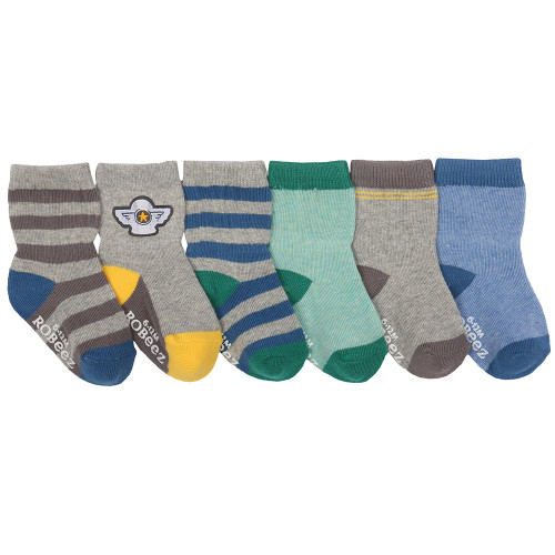 Heather cotton socks for baby boys and girls.  Ages 0 - 24 months