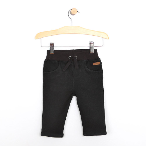 Black Jeans for baby boys and girls. Cotton.