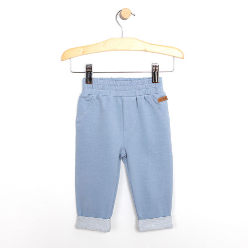 Blue terry pants for babies and infants.  Part of our new baby clothing line.