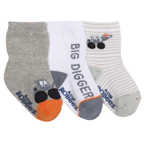 Robeez Big Digger Socks, 3-Pack