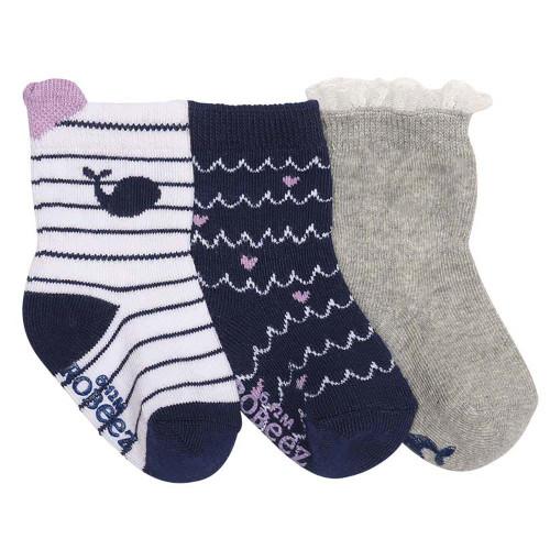 Robeez Whales Socks, 3-Pack