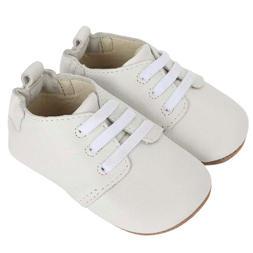 Robeez Owen Oxford White First Kicks - Angle
