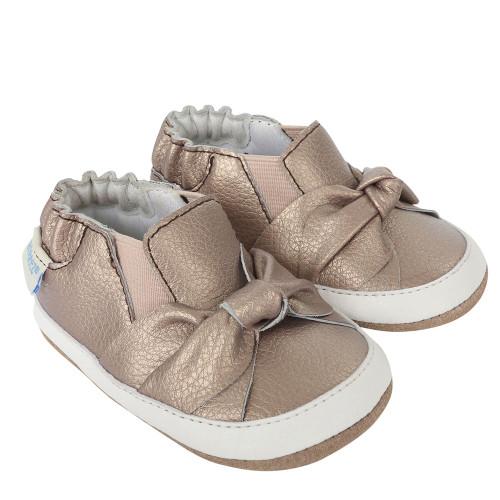 Robeez Bella's Bow Baby Shoes Mini Shoez - Angle