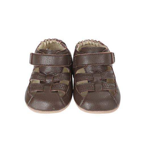 daa49cb59 Front view of Brown Baby Sandal