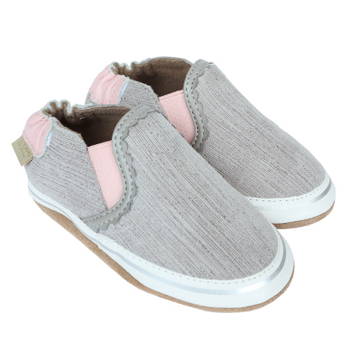 Robeez Pop of Pink Liam Soft Soles - Angle