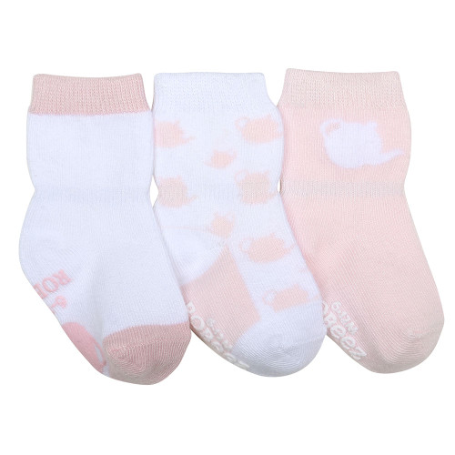 Tea Party Baby Socks, 3 Pack