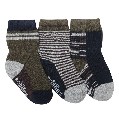 Athletic Heather Baby Socks, 3 Pack