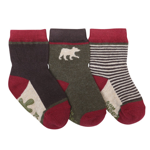 Forest Dweller Baby Socks, 3 Pack
