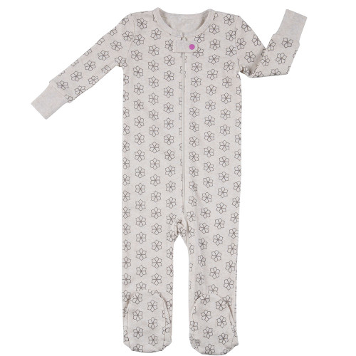 Robeez Flower Pop Footed Sleeper - Front