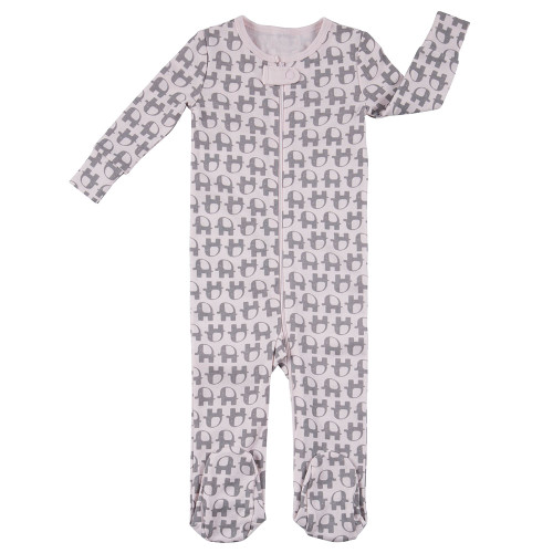 Robeez Little Peanut Footed Sleepwear - Front