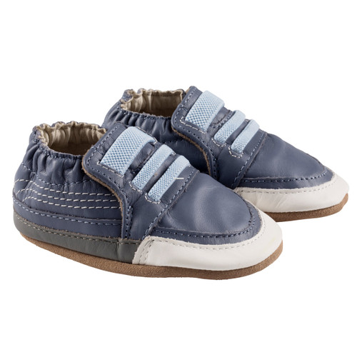 Robeez Navy Finley Soft Soles - Angle