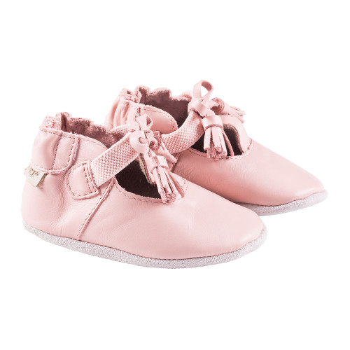 Robeez Pink Meghan Soft Soles - Angle
