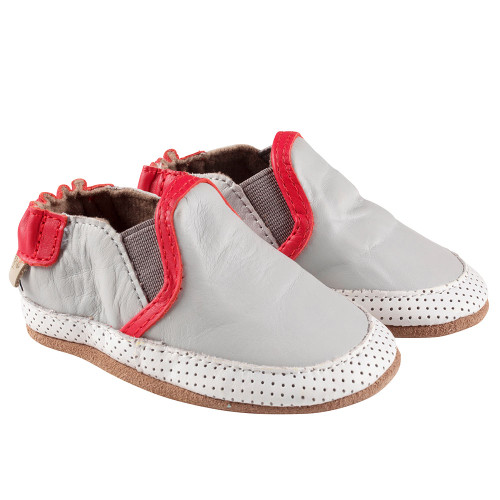 Robeez Grey Liam Soft Soles - Angle