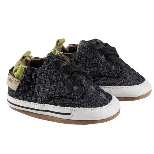 Robeez Navy Cool and Casual Soft Soles - Angle