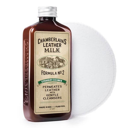 Straight Cleaner No. 2 - Premium Leather Cleaner with Applicator Pad