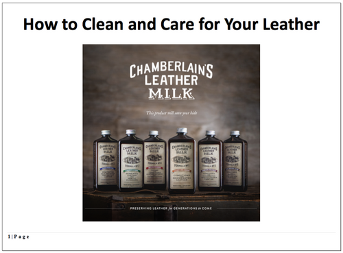 FREE Chamberlain's Leather Milk e-Book