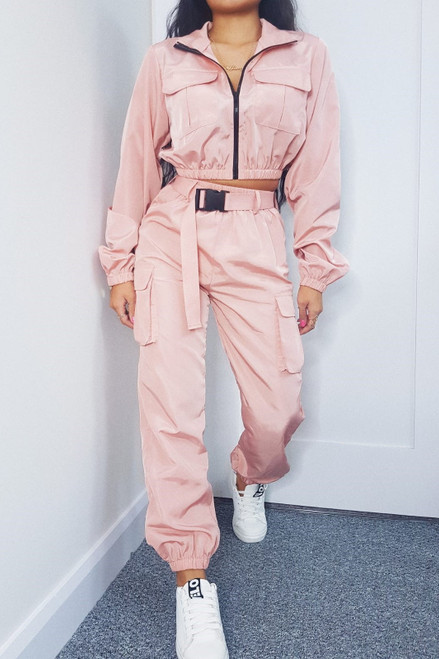 Pink Shell Suit Trousers
