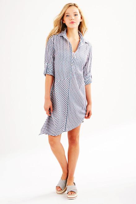 Finley Asymmetric Popover Dress