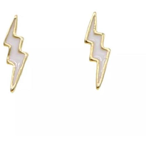 Enamel Lightening Bolt Earrings