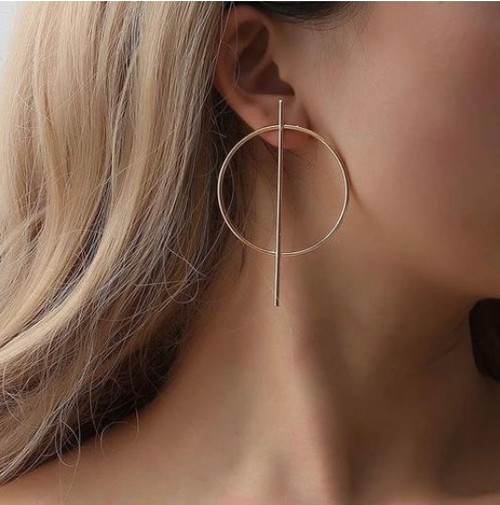 Alex Bar Hoop Earrings