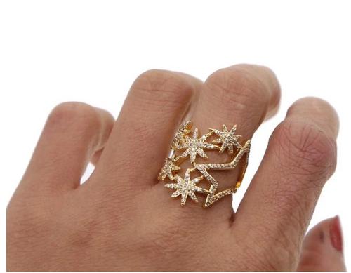Celeste Starburst Ring