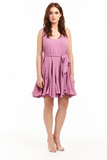 Drew Clothing Jane Sleeveless Tie Dress in punch
