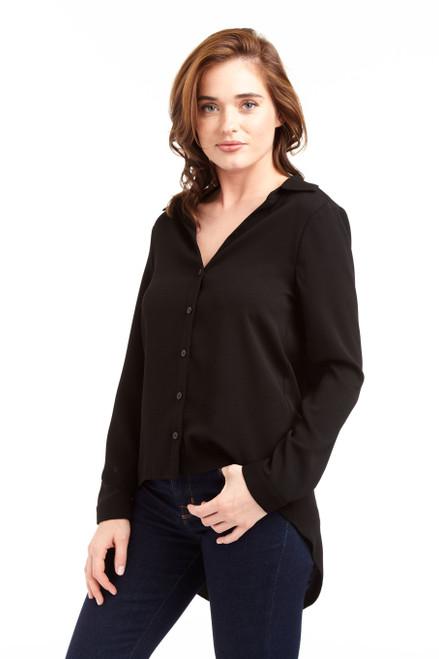 Drew Clothing black Georgeann Long Sleeve Button Down Blouse