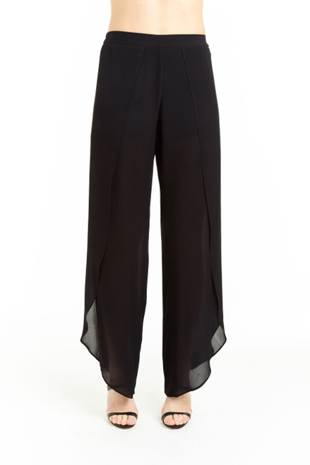 Drew Clothing Black Whitney half lined Pant with front slit
