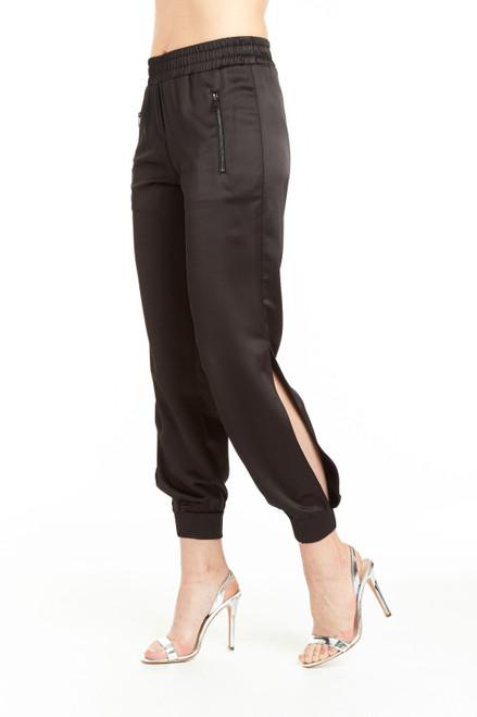 Drew Clothing Black Natasha Elastic Waistband Jogger Pant