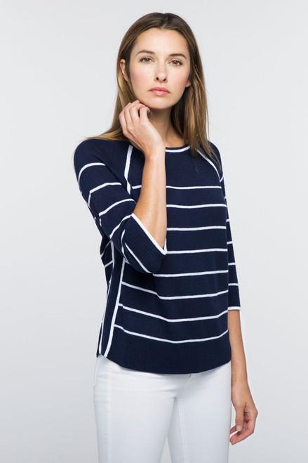 Kinross Raglan Stripe Pullover