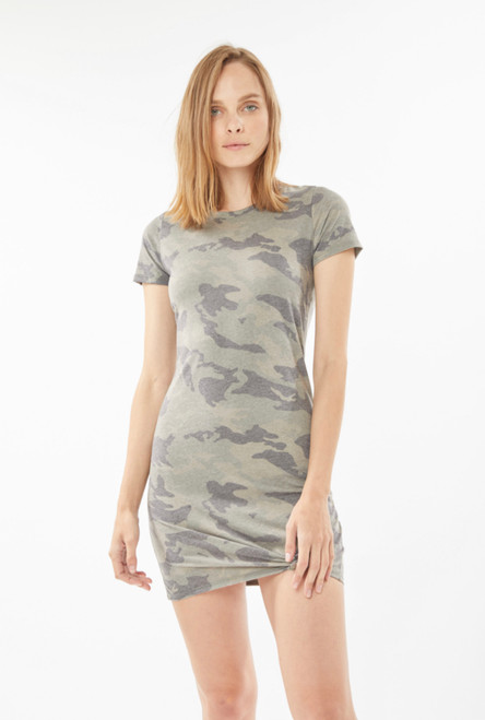 Generation Love Holly t-shirt dress in Camo print