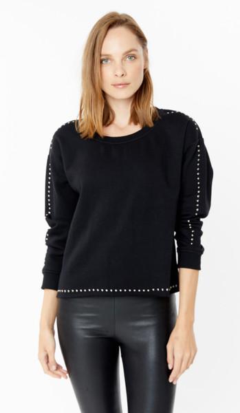 Generation Love Toby stud sweatshirt in black