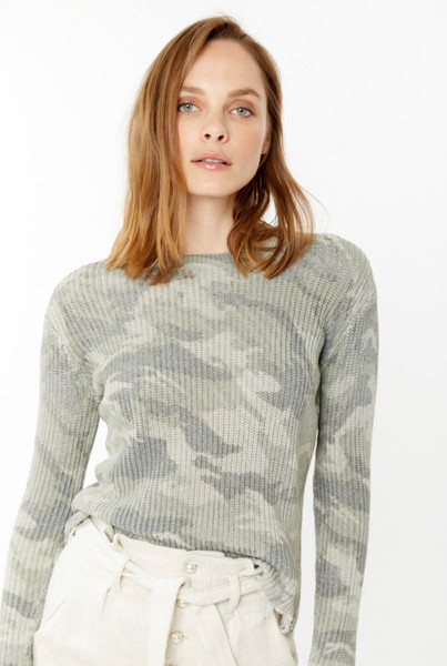 Generation Love Margot sweater in camo