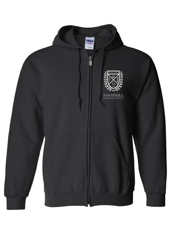 FCS Hooded Zip Sweatshirt w/ logo