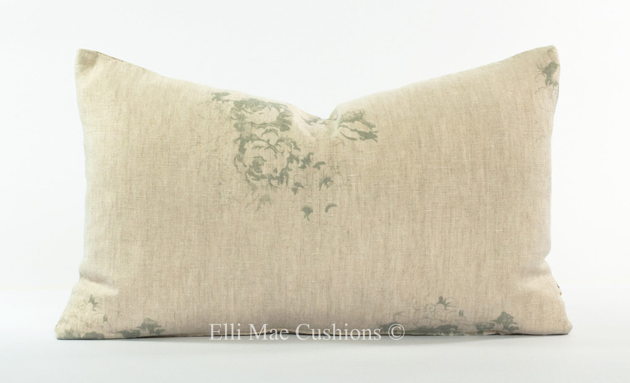 Cabbages And Roses Natural Hatley Shabby Chic French Blue Sofa Cushion Pillow Cover Elli Mae Cushions And Accessories