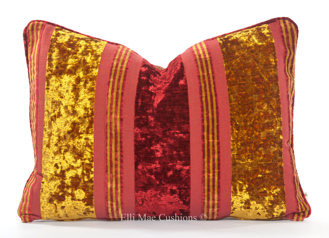 Phenomenal Luxury Designer Brian Yates Gold Red Velvet Cushion Pillow Sofa Throw Cover Andrewgaddart Wooden Chair Designs For Living Room Andrewgaddartcom