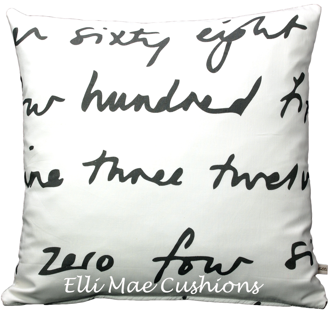 Ikea Words Fabric Black And White Cushion Pillow Cover Elli Mae