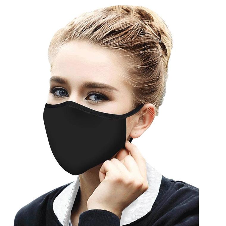 Black Reusable Fabric Face Mask $19