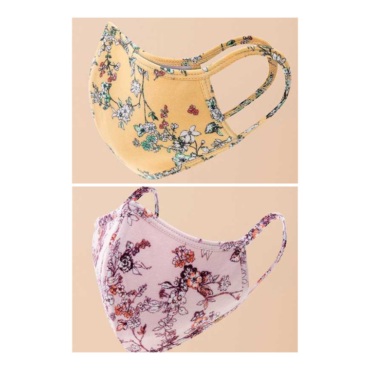 Floral Mask Set of 2 Masks $19
