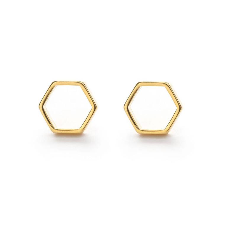 Hexagon Studs $24