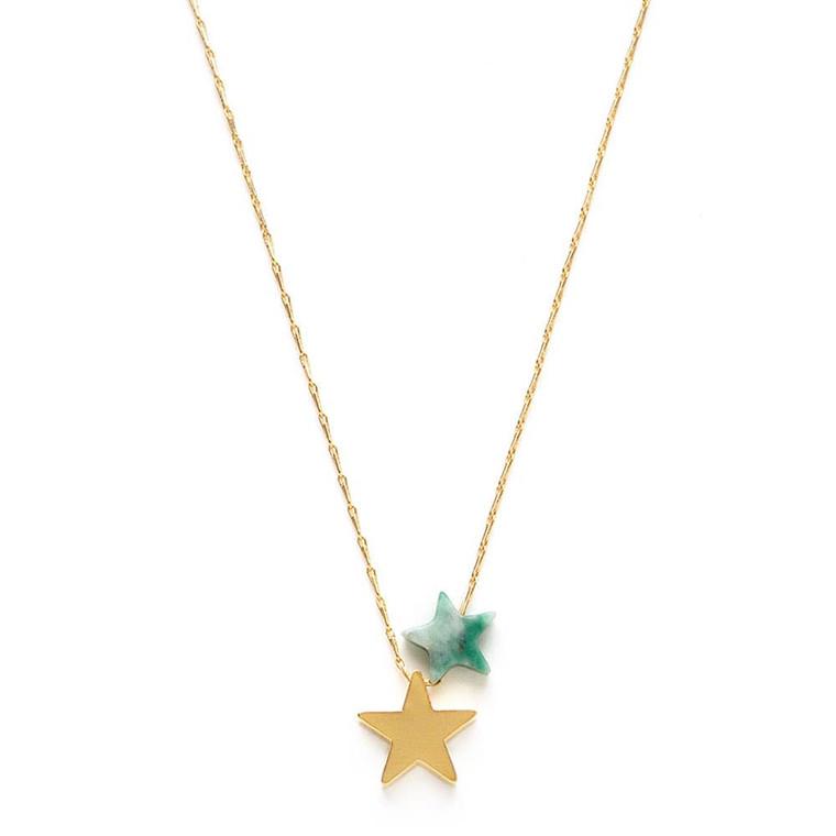 Star Power Necklace - Green Jasper - $39
