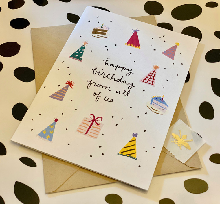 Birthday Party Icons Card