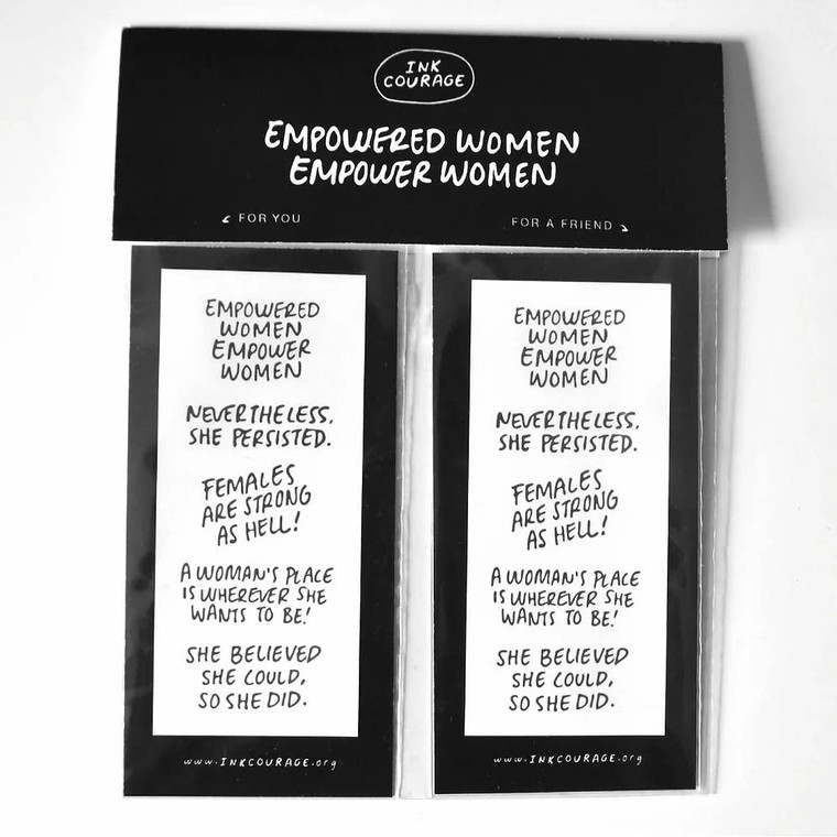 Empowered Women Tattoo - Pack of 10 Two packs of empowering tattoos. You can wear words of encouragement wherever you go.
