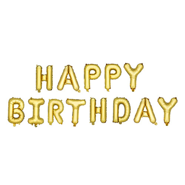 """String your party into overdrive with helium free balloon banners! The fun don't stop til' these pop! -Set of 13 balloons -Air inflate -14"""" letter balloon -Includes string"""