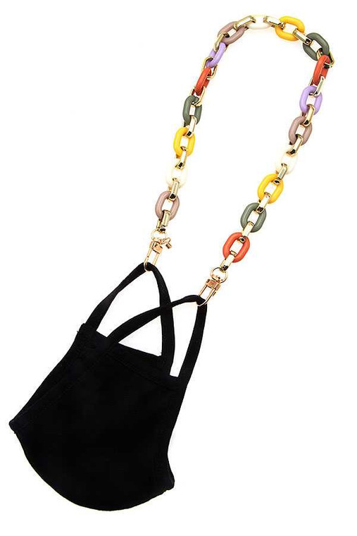 Big link Multi Color Mask Chain -this can be worn as a necklace as well.