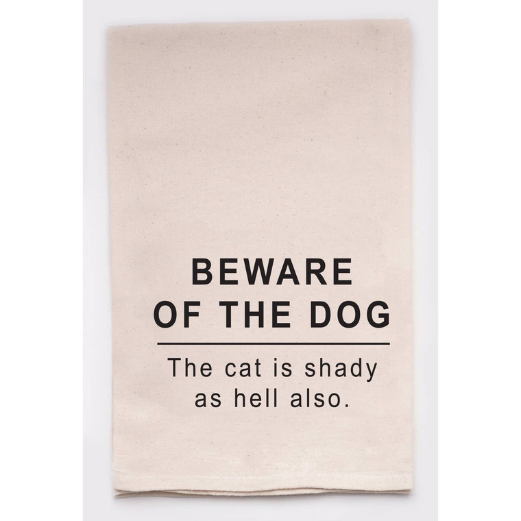 Beware Of The Dog Kitchen Tea Towel
