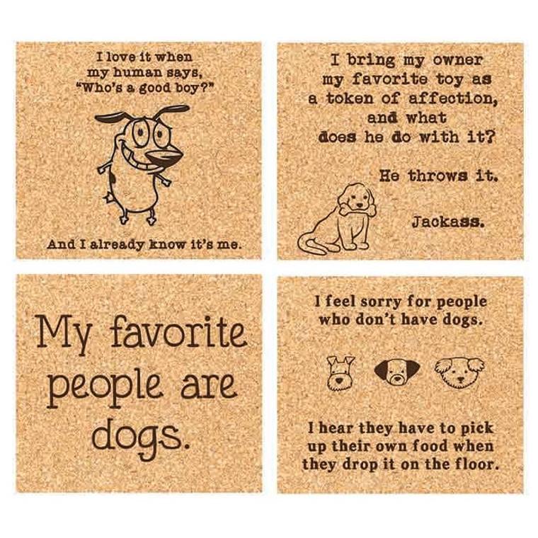 Dog Lover Coaster Set