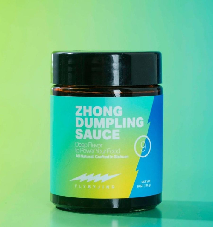 """Zhong Dumpling Sauce Inspired by the popular, classic Chengdu street snack, Zhong Dumpling sauce is a concoction of aromatic """"fuzhi"""" soy sauce, slow-brewed with brown sugar, mushrooms, garlic, and a blend of spices. It's sweet, tangy, spicy, and umami-rich all at once —so intensely delicious, it's hard not to put it on everything.Try it with dumplings or noodles, drizzle it on hummus, roasted vegetables, or glazed pork ribs"""