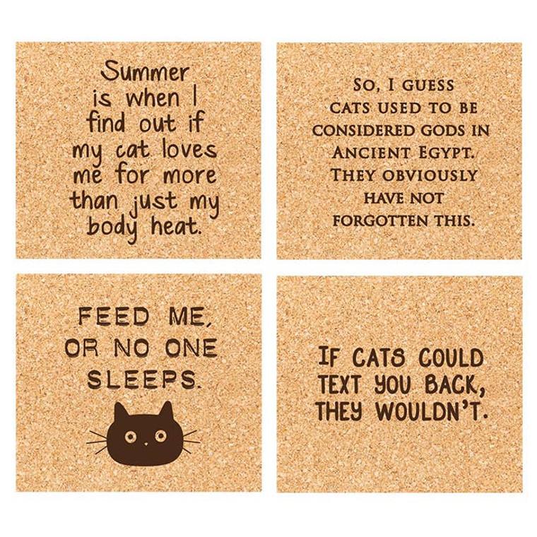 Cat Lady Coaster Set